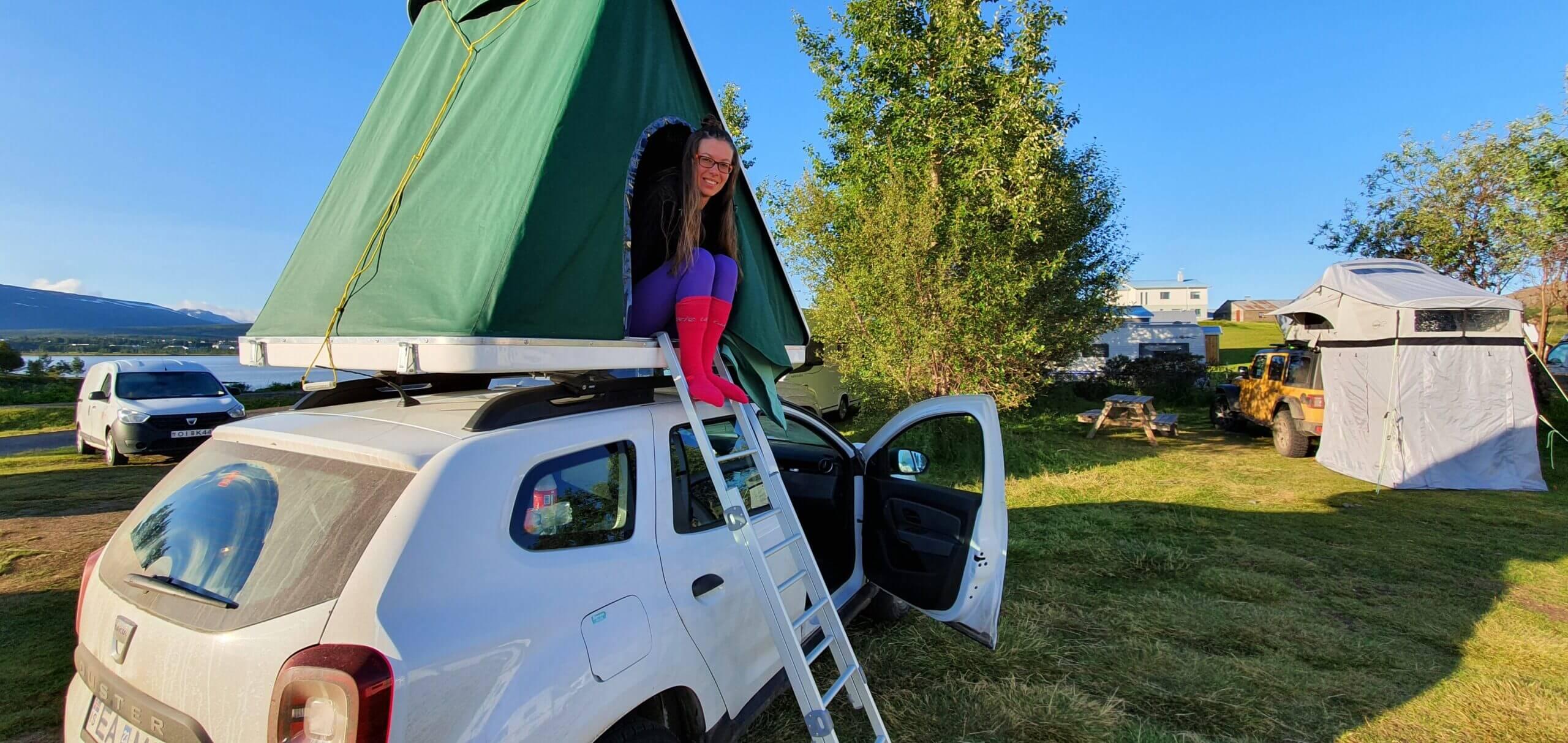 Fellabær camp rooftop tent