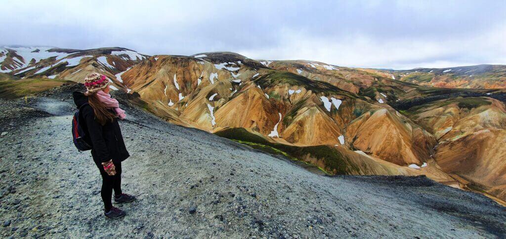 blahnjukur hike near top