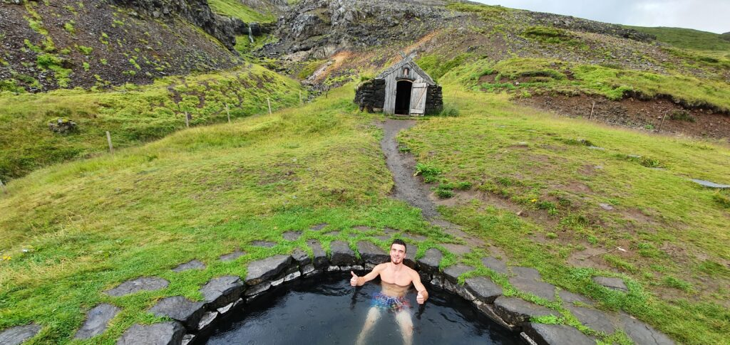 gudrunarlaug hot spring shelter