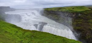 gullfoss in the evening