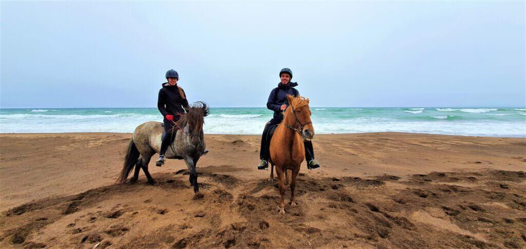 icelandic horse riding snaefellsnes beach
