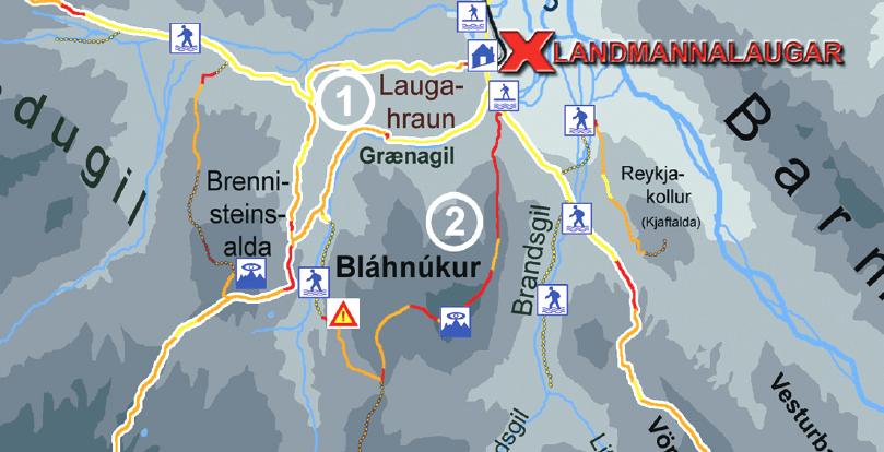 landmannalaugar map