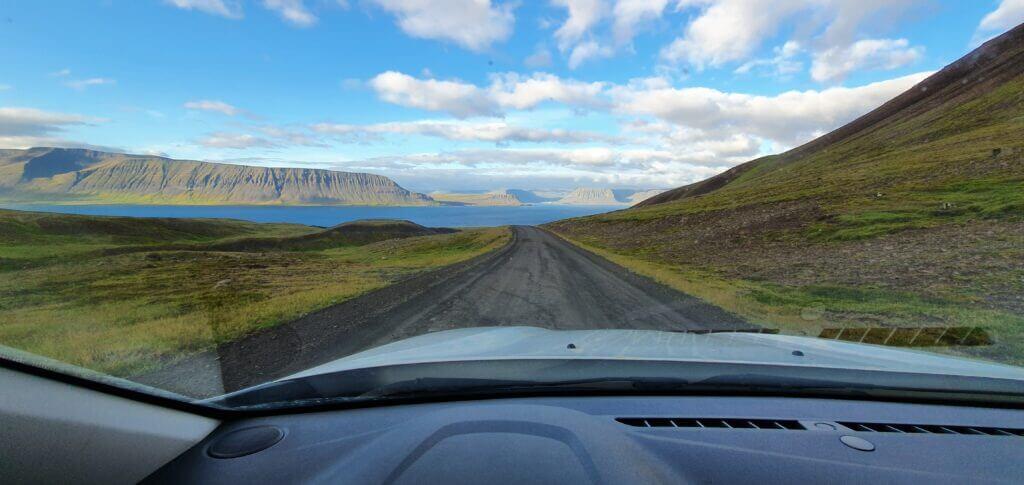 road 60 between thingeyri and flokalundur