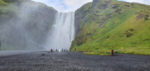 Bottom part of Skógafoss
