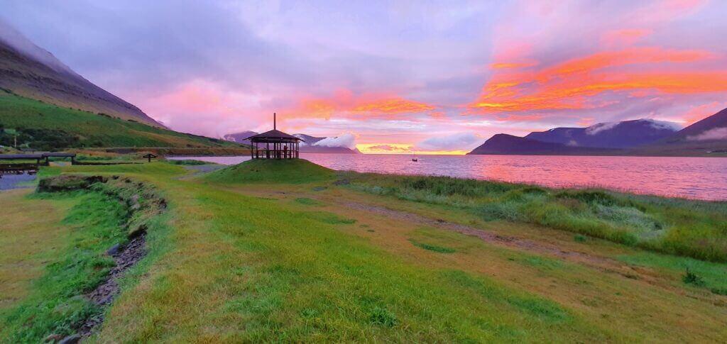 thingeyri campsite sunset