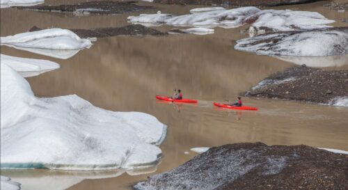 glacier kayaking and hike