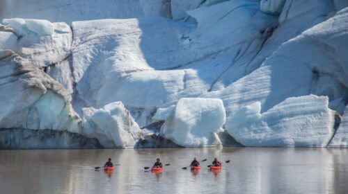 glacier kayaking and south coast tour