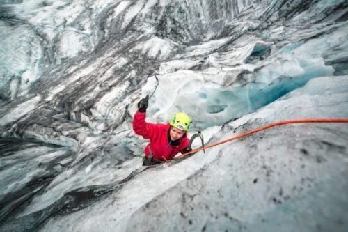 troll skaftafell glacier climbing